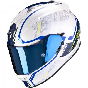 SCORPION EXO 510 AIR OCCULTA Pearl White-Blue