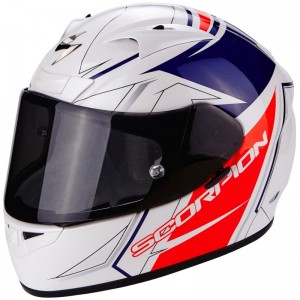 SCORPION EXO 710 AIR LINE White-Red-Blue