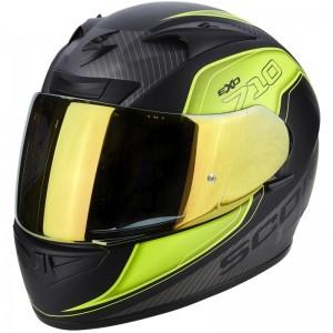 SCORPION EXO 710 AIR MUGELLO Matt black-Neon yellow-Silver