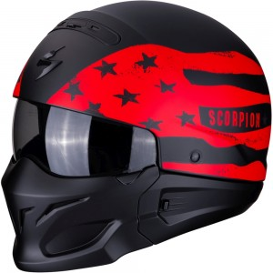 SCORPION EXO COMBAT ROOKIE Matt Black-Red