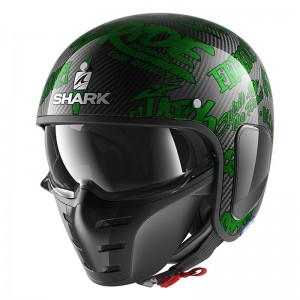 SHARK S-DRAK FREESTYLE CUP color Carbon Green Green