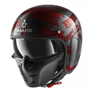 SHARK S-DRAK FREESTYLE CUP color Carbon Red Red