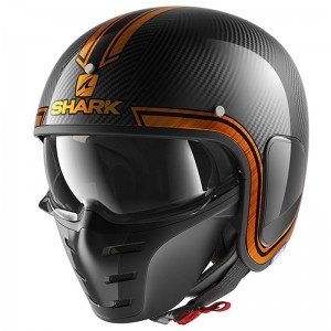 SHARK S-DRAK VINTA color Carbon Chrome Orange