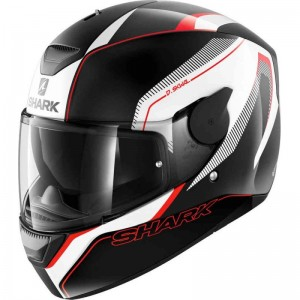 SHARK D-SKWAL RAKKEN  color Black White Red