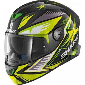 SHARK SKWAL 2 DRAGHAL color Black Green Yellow