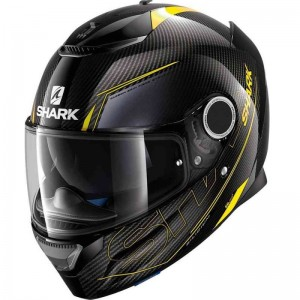 SHARK SPARTAN CARBON SILICIUM color Carbon Yellow Anthracite