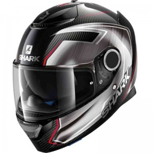 SHARK SPARTAN CARBON GUINTOLI  color Carbon Chrome Red