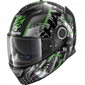 SHARK SPARTAN CARBON DAKSHA color Carbon Green Black