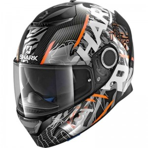 SHARK SPARTAN CARBON DAKSHA color Carbon Anthracite Orange