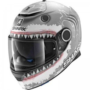 SHARK SPARTAN LORENZO REPLICA White color Silver White Anthracite MAT