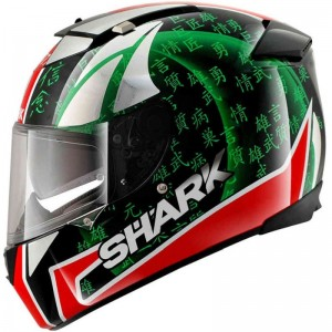 SHARK RACE-R PRO SYKES REPLICA color Red Green Chrome