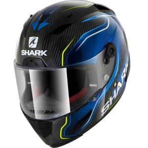 SHARK RACE-R PRO CARBON GUINTOLI REPLICA  color Carbon Blue Yellow